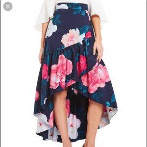 Gorgeous Eliza B Floral Hi Lo Skirt